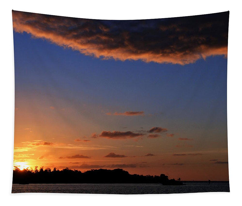 Sunrise Tapestry featuring the photograph Key West Sunrise 14 by Bob Slitzan