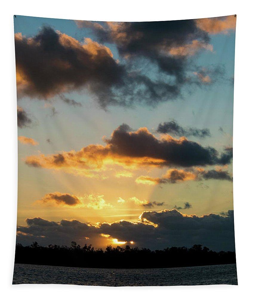 Sunrise Tapestry featuring the photograph Key West Sunrise 44 by Bob Slitzan