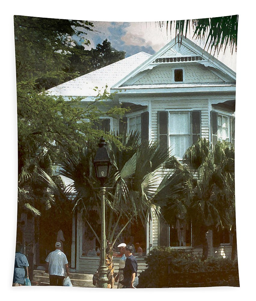 Historic Tapestry featuring the photograph Keywest by Steve Karol