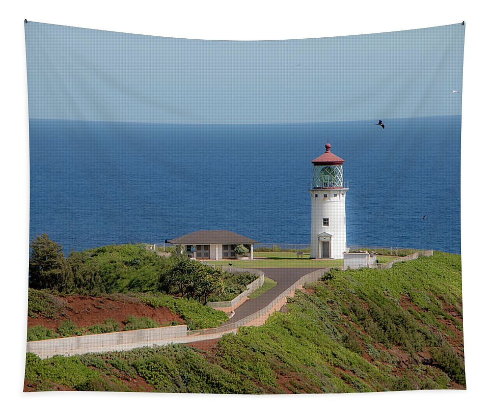 Blue Tapestry featuring the photograph Kilauea Lighthouse by Teresa Wilson