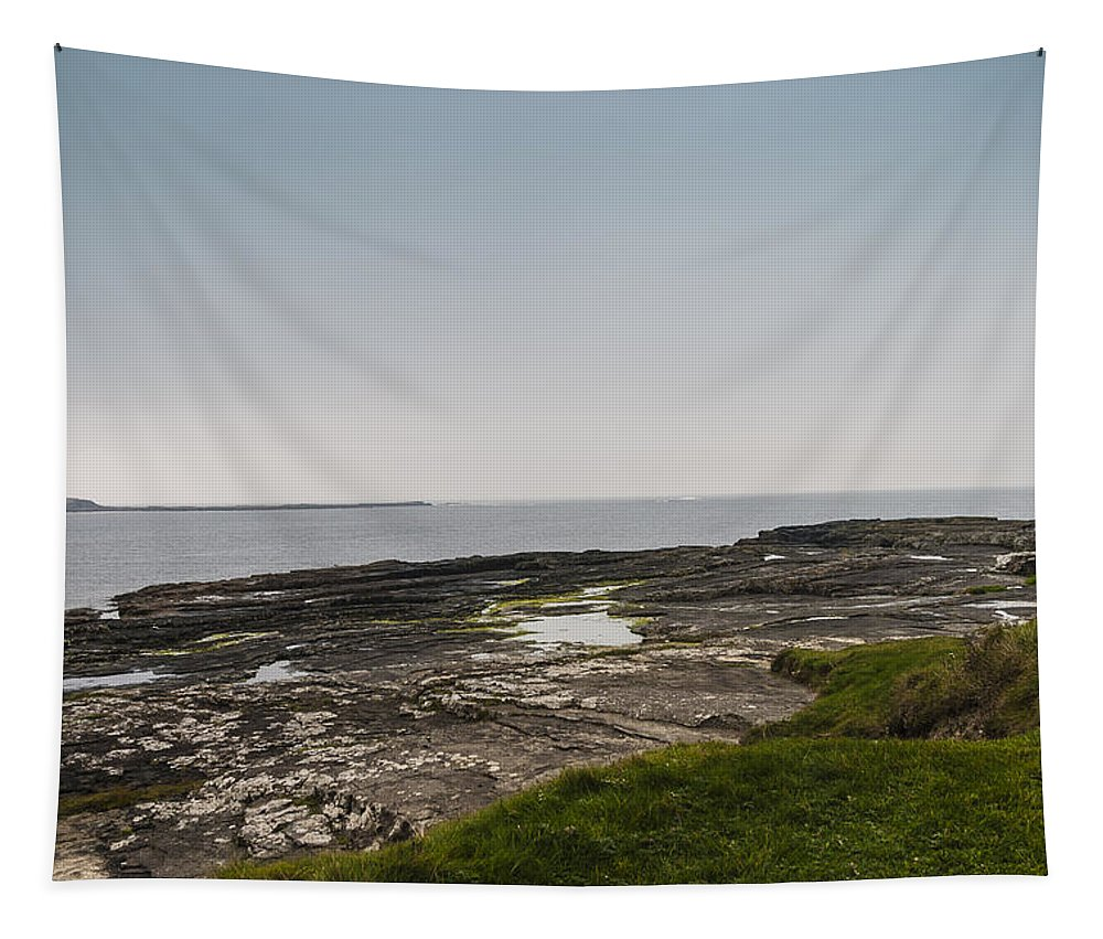 Beauty In Nature Tapestry featuring the photograph Kilkee Coastline by Sean O'Cairde
