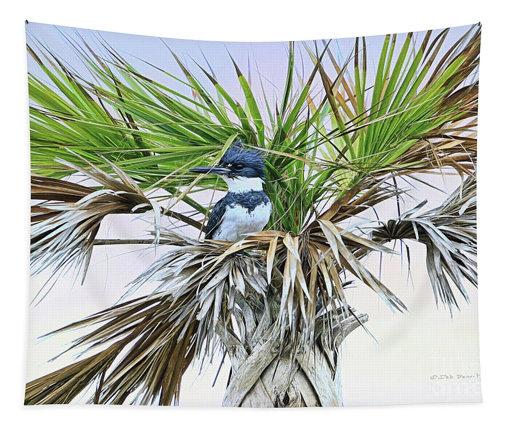 King Fisher Tapestry featuring the photograph King Fisher Palm by Deborah Benoit