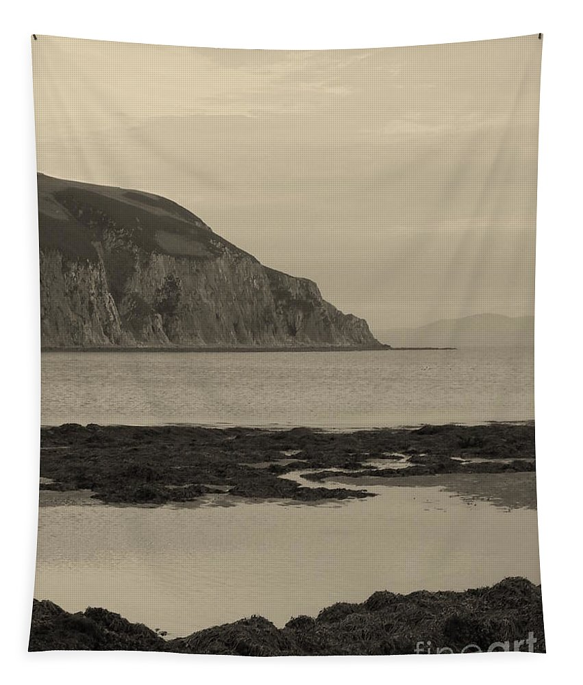 Cliff Tapestry featuring the photograph Kintyre Plus Eight by Peter McClure