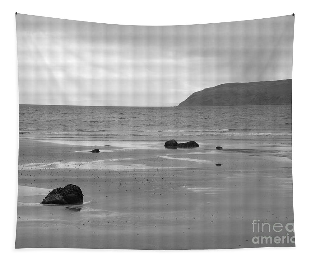 Beach Tapestry featuring the photograph Kintyre Plus Seven by Peter McClure