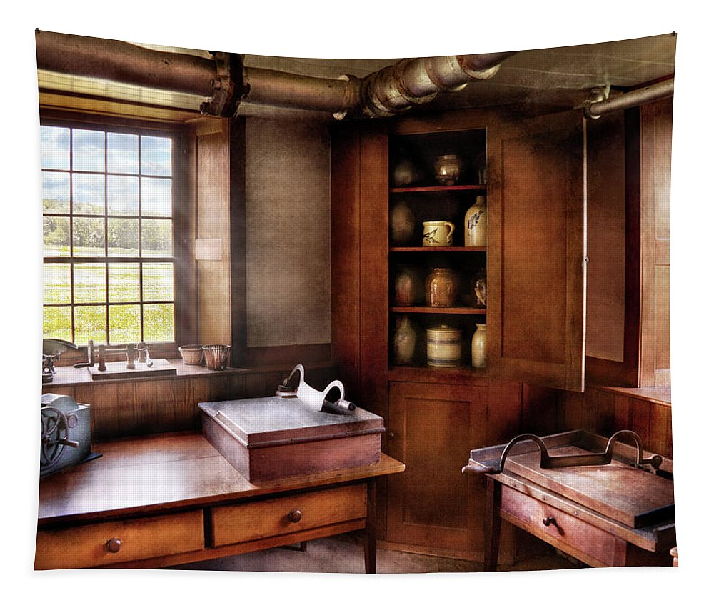 Hdr Tapestry featuring the photograph Kitchen - Nothing Ordinary by Mike Savad