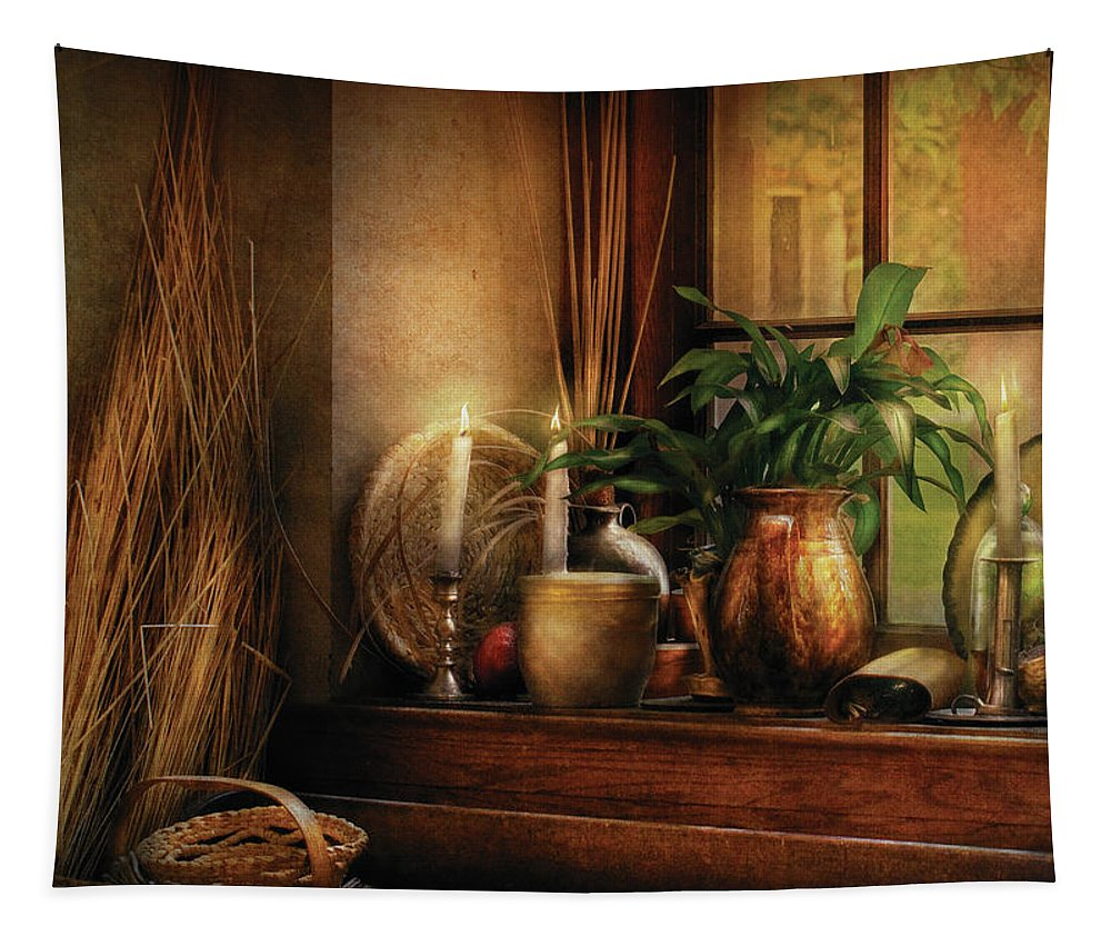 Savad Tapestry featuring the photograph Kitchen - One Fine Evening by Mike Savad