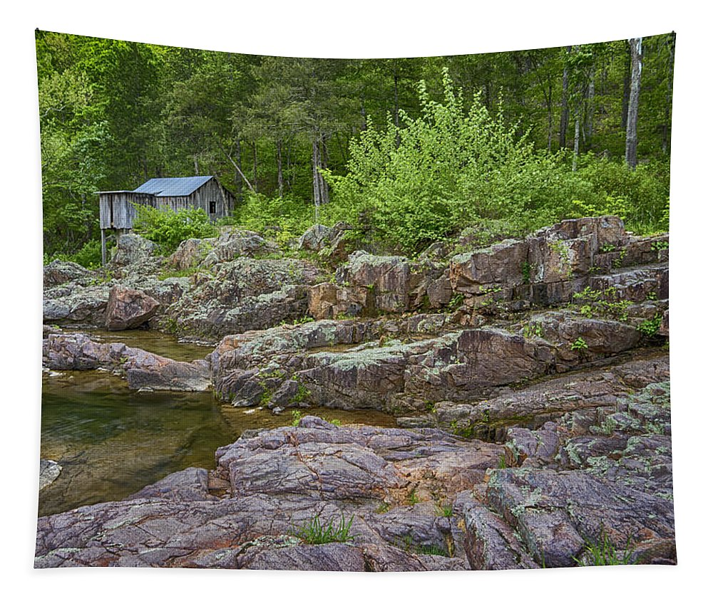 Missouri Tapestry featuring the photograph Klepzig Mill Ozark National Scenic Riverways Dsc02803 by Greg Kluempers