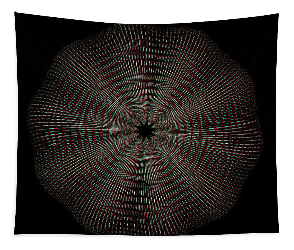 3d Tapestry featuring the photograph Knotplot 9 - Use Red-cyan 3d Glasses by Brian Wallace