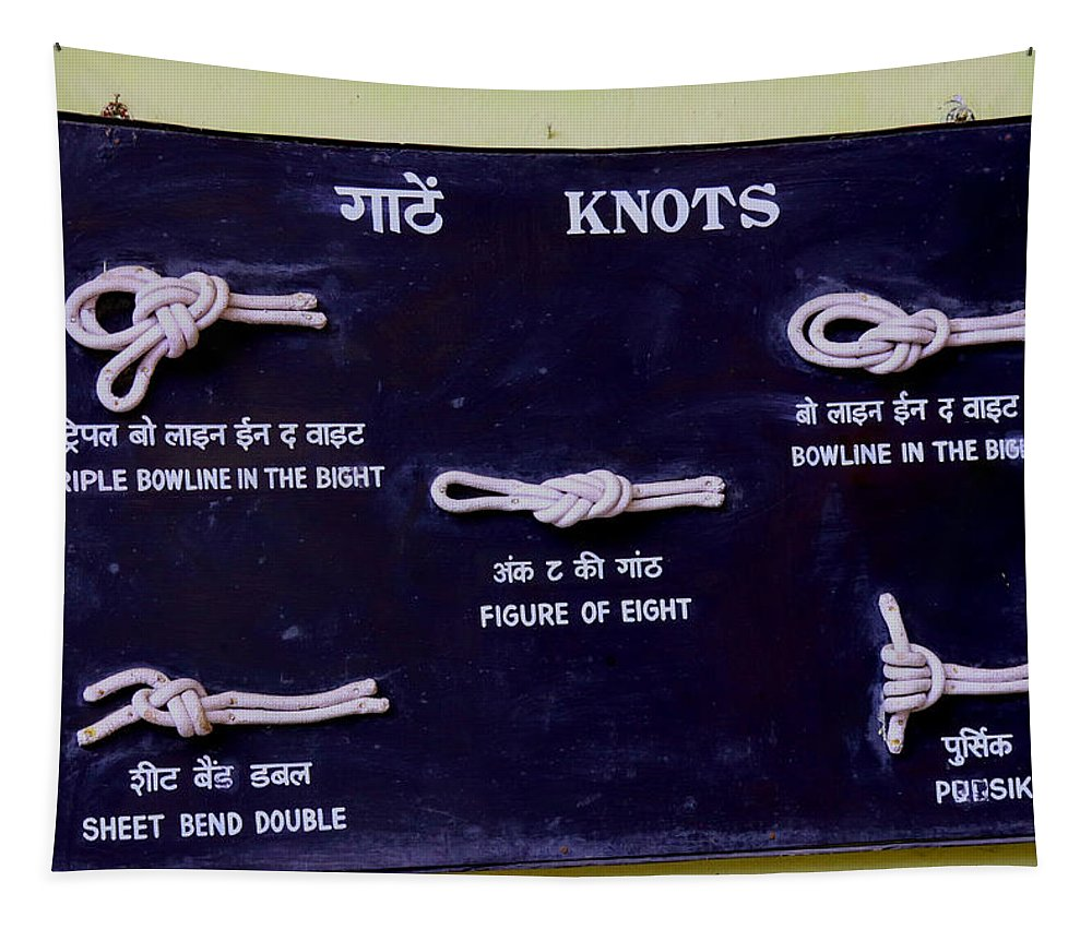 Knots Tapestry featuring the photograph Knots by Nilu Mishra