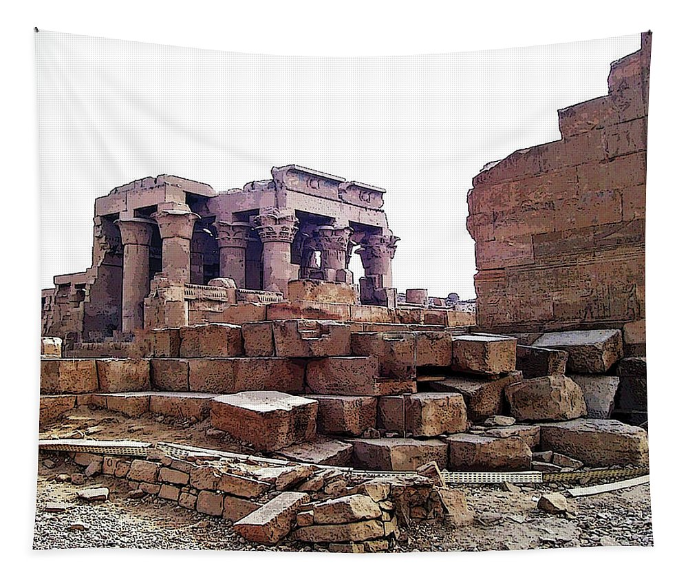 Kom Ombo Tapestry featuring the photograph Kom Ombo by Debbie Oppermann