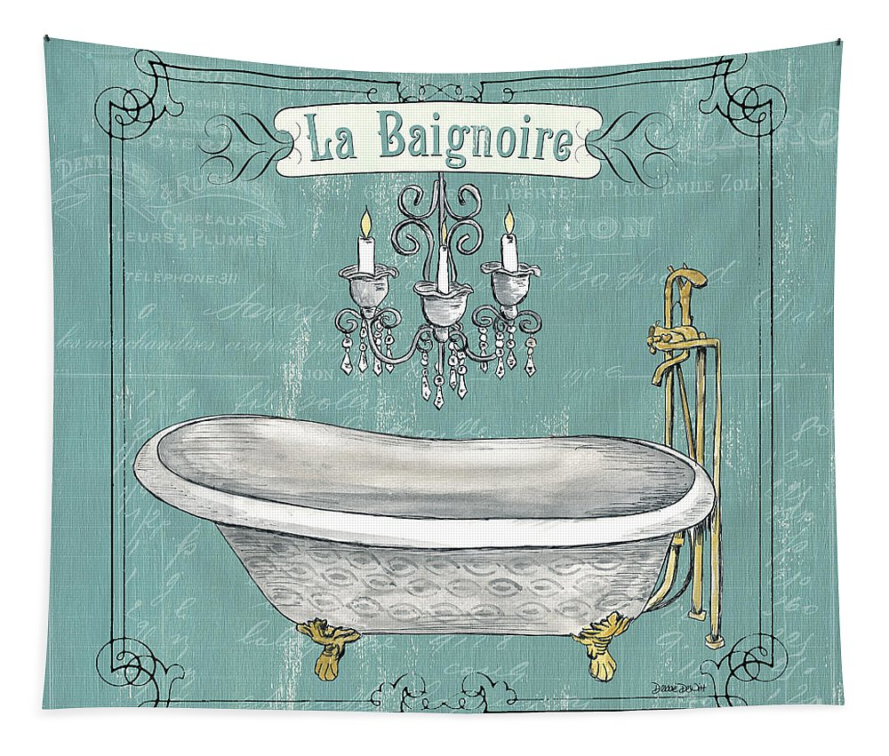 Bath Tapestry featuring the painting La Baignoire by Debbie DeWitt