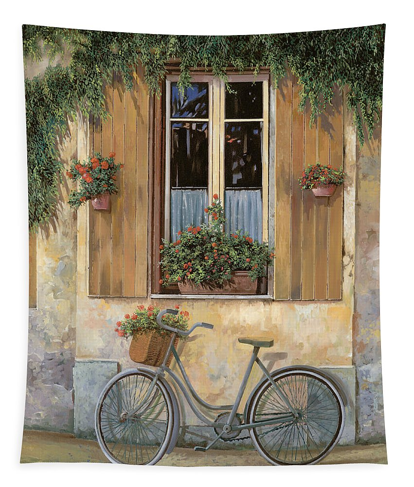 Bike Tapestry featuring the painting La Bicicletta by Guido Borelli