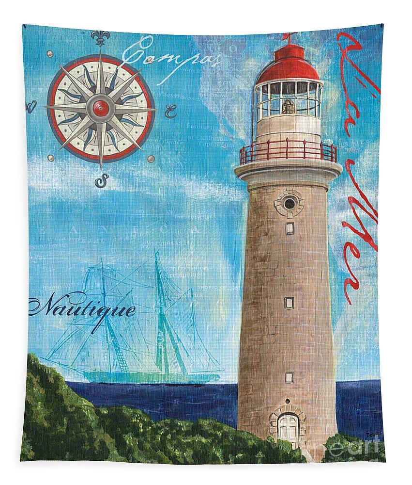 Coastal Tapestry featuring the painting La Mer by Debbie DeWitt