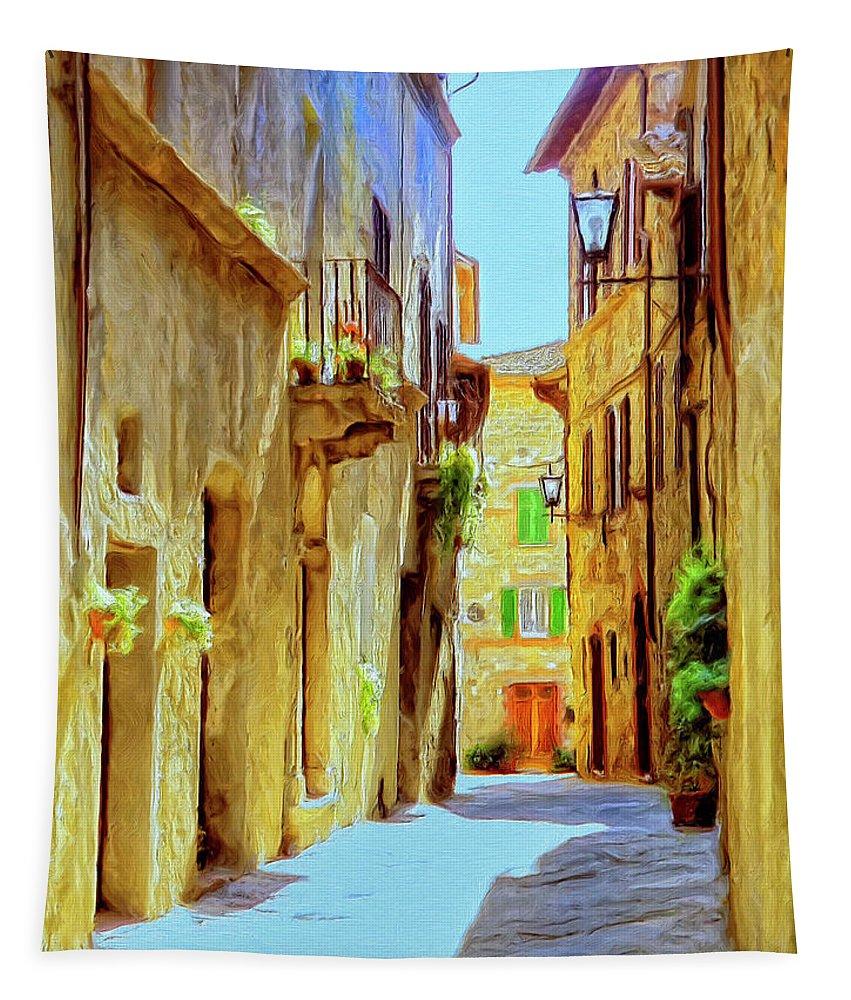 La Piccola Strada Tapestry featuring the painting La Piccola Strada by Dominic Piperata