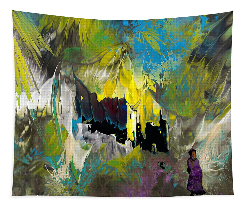 Impressionism Tapestry featuring the painting La Provence 24 by Miki De Goodaboom
