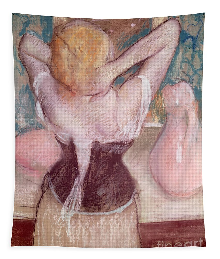 Toilette Tapestry featuring the painting La Toilette by Edgar Degas