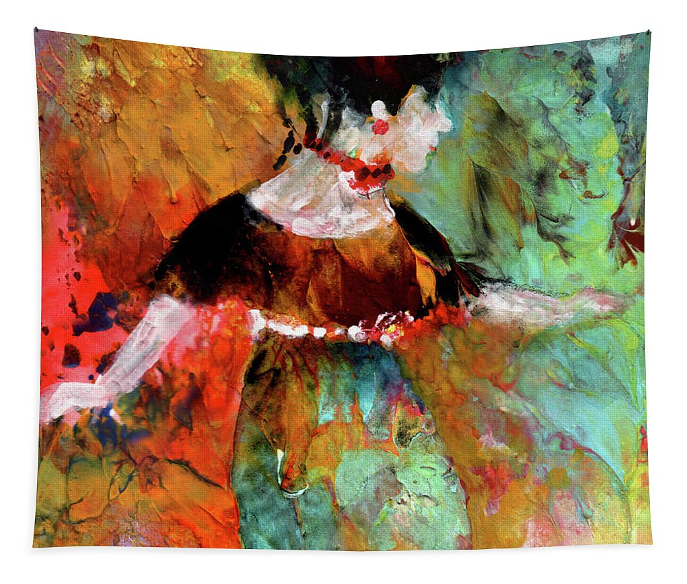 Downton Abbey Tapestry featuring the painting Lady Cora From Downton Abbey by Miki De Goodaboom