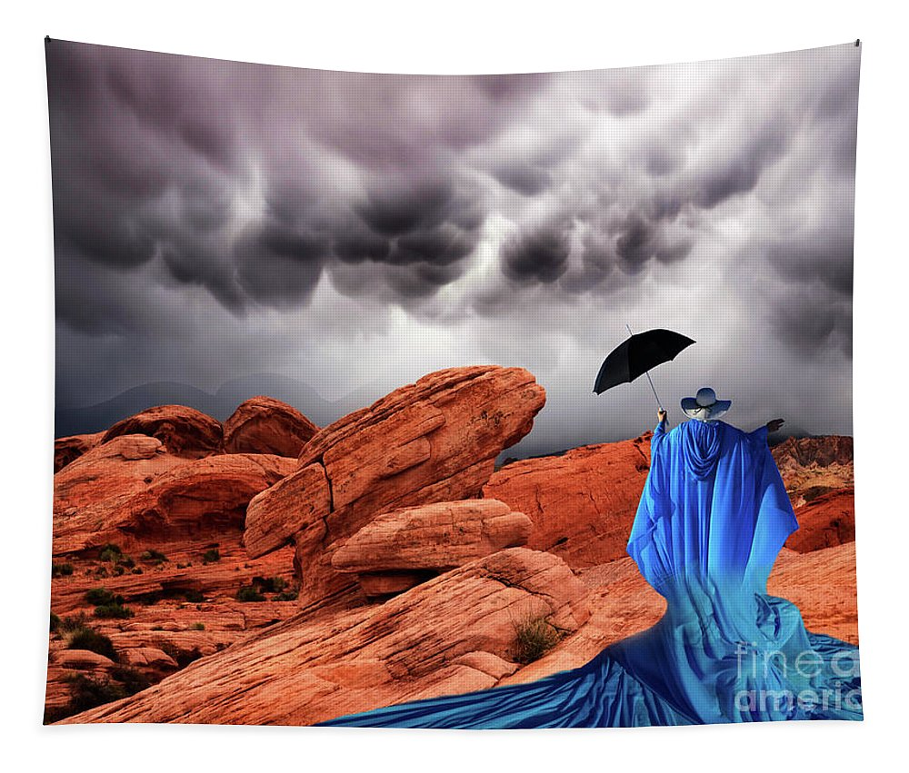 Lady In Blue Tapestry featuring the photograph Lady In Blue Nevada by Bob Christopher