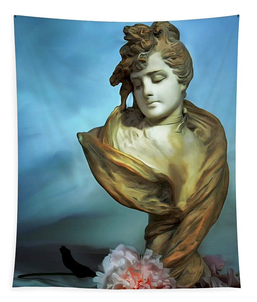 Vertical Tapestry featuring the photograph Thwarted Love by Carol J Deltoro