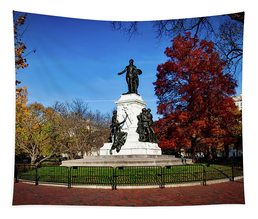 Seasons Tapestry featuring the photograph Lafayette Park In Autumn by Mountain Dreams