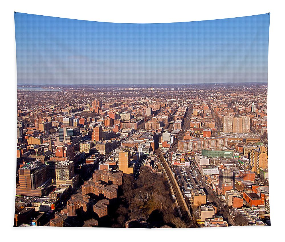 Travel Tapestry featuring the photograph Laguardia Approach by Bob Slitzan