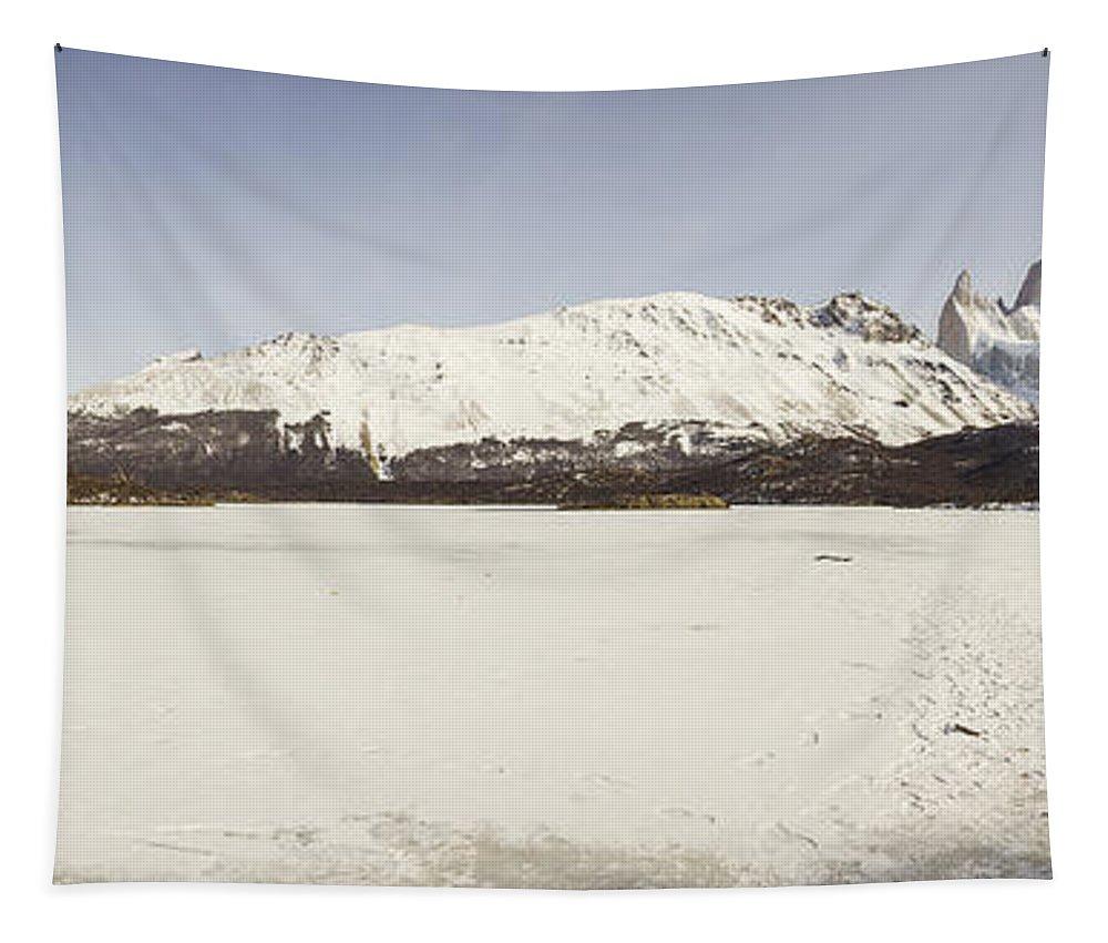 Nature Tapestry featuring the photograph Laguna Capri by Mirko Chianucci