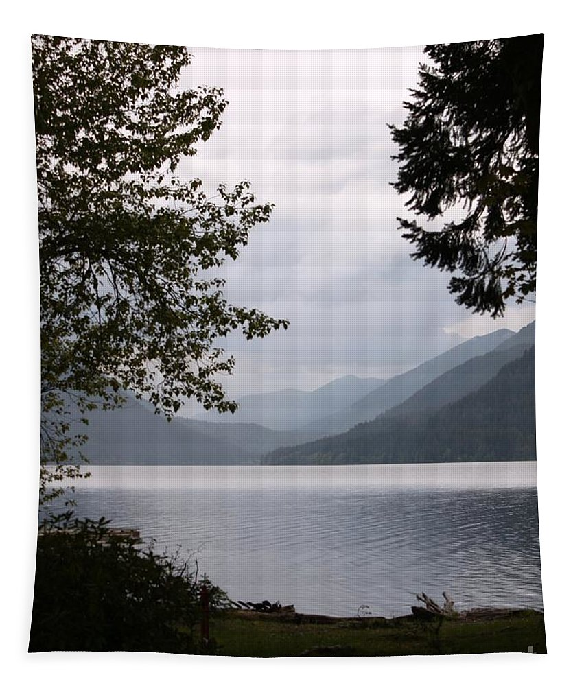 Lake Crescent Tapestry featuring the photograph Lake Crescent Through The Trees by Carol Groenen
