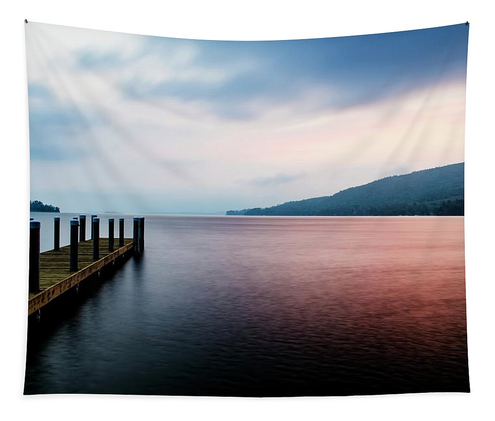Sunrise Tapestry featuring the photograph Lake George Sunrise 3 by Tony Beaver