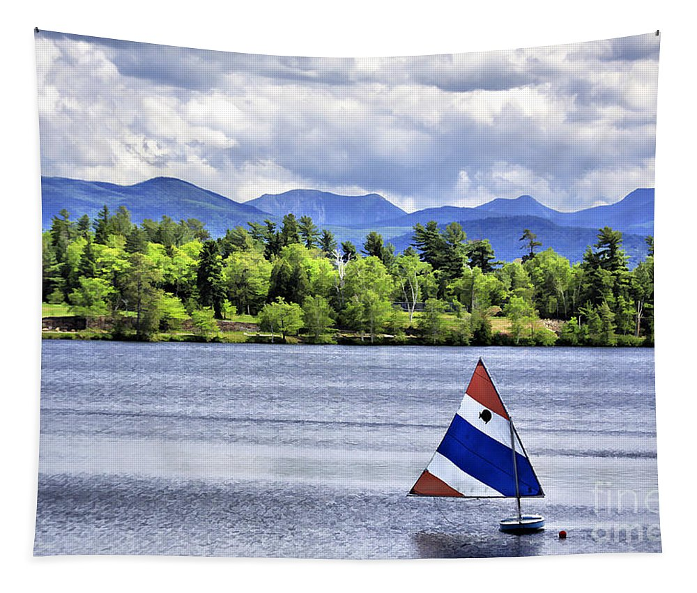 Lakeplacid Tapestry featuring the photograph Lake Placid by Deborah Benoit