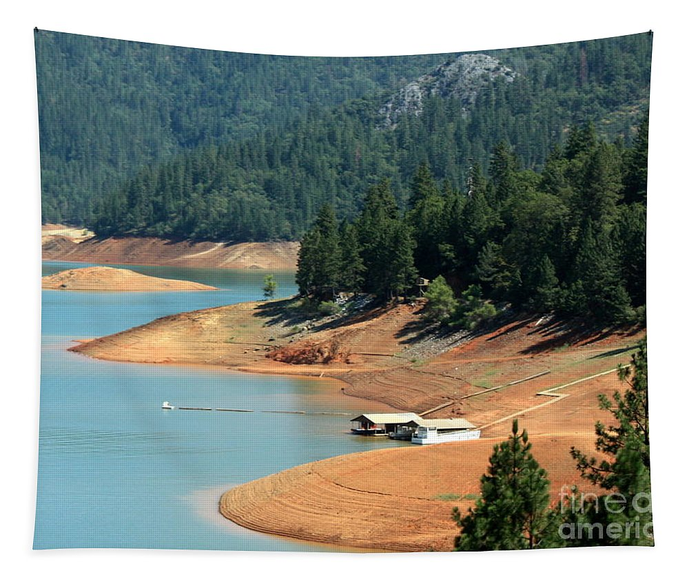 Lake Tapestry featuring the photograph Lake Shasta by Carol Groenen