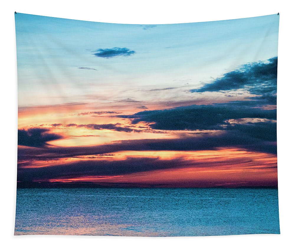 Lake Superior Sunset No 2 Tapestry featuring the photograph Lake Superior Sunset No.2 by Phyllis Taylor