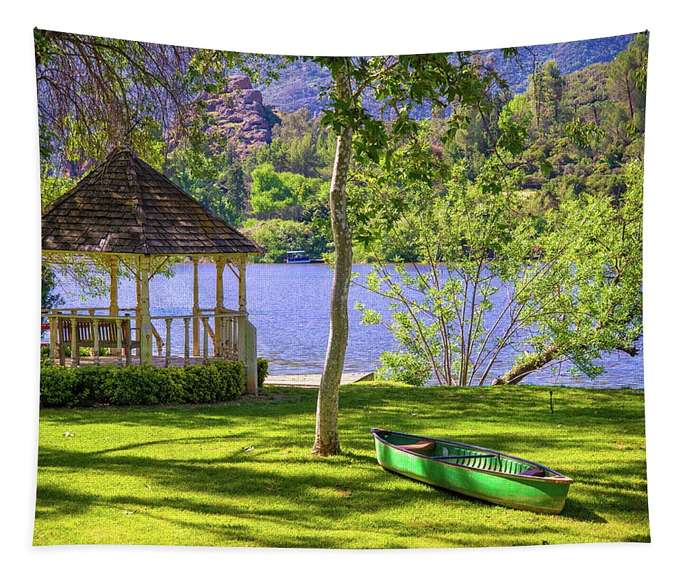 Summer Tapestry featuring the photograph Lakeside Relaxation by Lynn Bauer