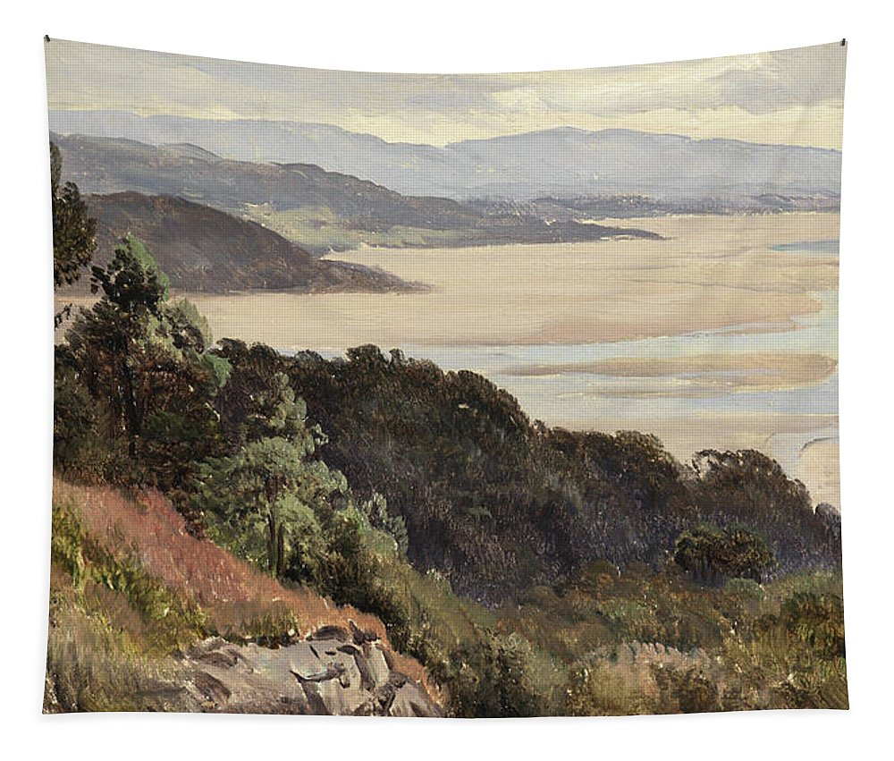 Lancaster Sands Tapestry featuring the painting Lancaster Sands by Sidney Richard Percy