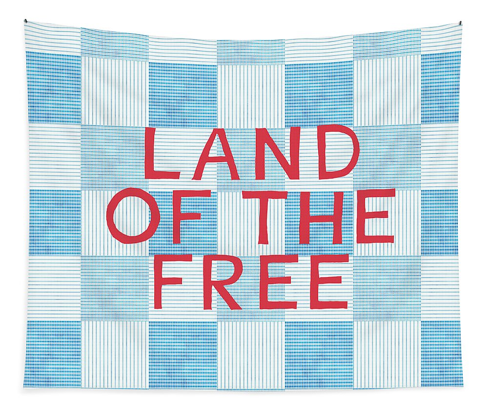 Land Of The Free Tapestry featuring the painting Land Of The Free by Linda Woods