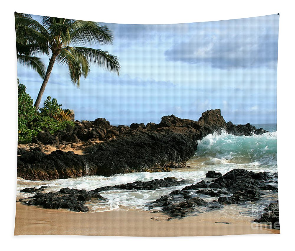 Aloha Tapestry featuring the photograph Lapiz Lazuli Stone Aloha Paako Aviaka by Sharon Mau