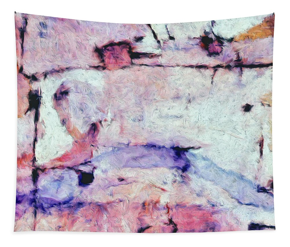 Abstract Tapestry featuring the painting Laredo by Dominic Piperata