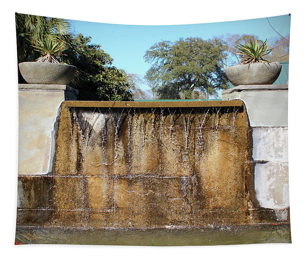 Water Fountain Tapestry featuring the photograph Large Water Fountain by Cynthia Guinn