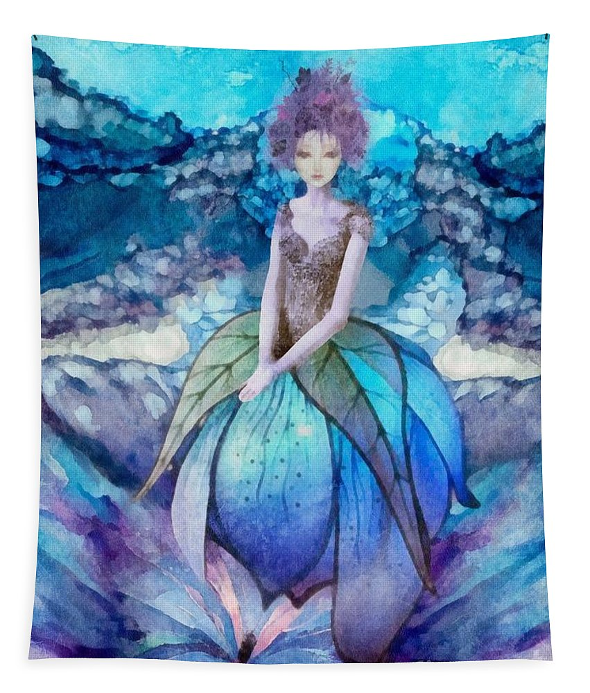 Larmina Tapestry featuring the painting Larmina by Mo T