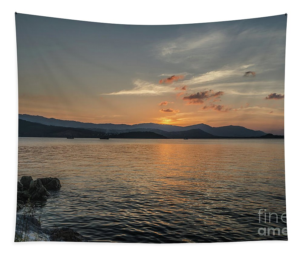 Michelle Meenawong Tapestry featuring the photograph Last Moment Of The Day by Michelle Meenawong