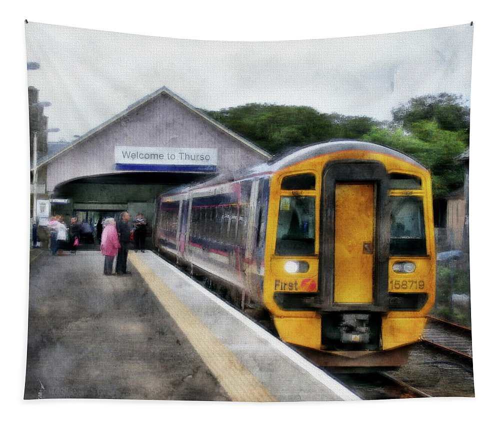 Scotland Tapestry featuring the photograph Last Stop by Anthony Dezenzio