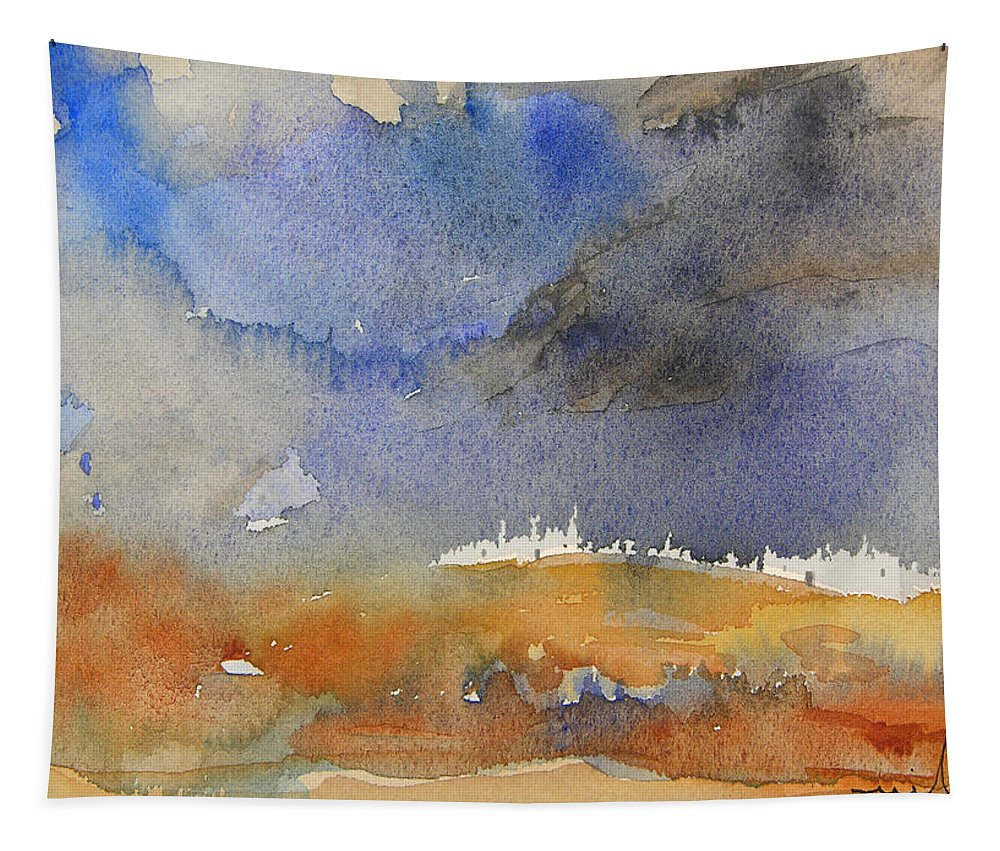 Watercolour Tapestry featuring the painting Late Afternoon 10 by Miki De Goodaboom