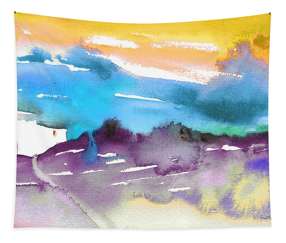 Watercolour Tapestry featuring the painting Late Afternoon 12 by Miki De Goodaboom