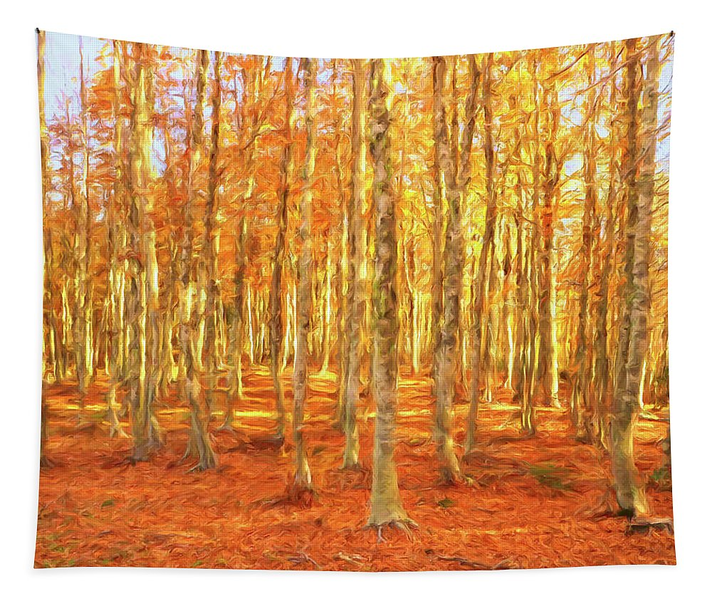 Italy Tapestry featuring the painting Late Autumn In Calabria by Dominic Piperata