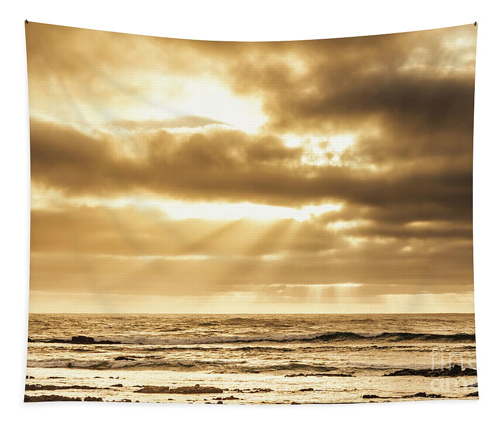 Ocean Tapestry featuring the photograph Late Day Rays by Jorgo Photography - Wall Art Gallery