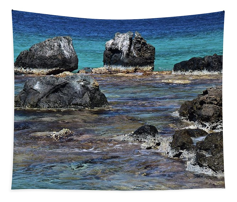 Seascape Tapestry featuring the photograph Lava Field by Frozen in Time Fine Art Photography