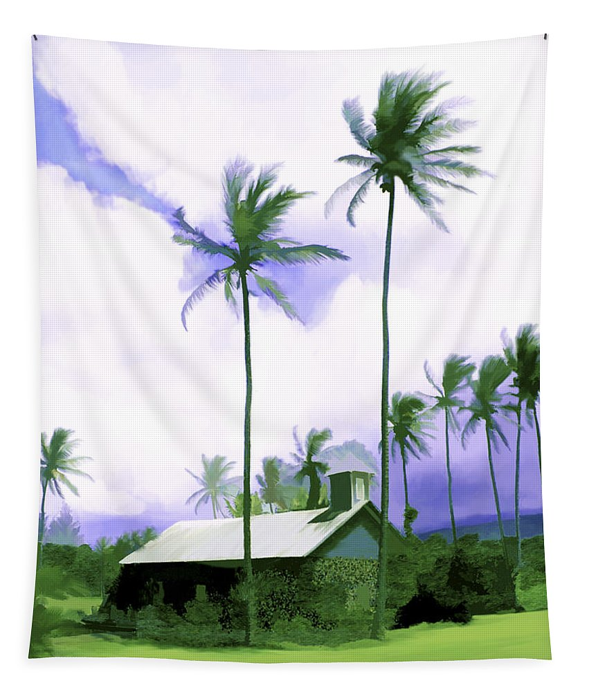 Hawaii Tapestry featuring the photograph Lava Rock Church by Kurt Van Wagner