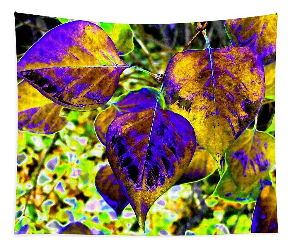 Lavish Leaves Tapestry featuring the digital art Lavish Leaves 3 by Will Borden