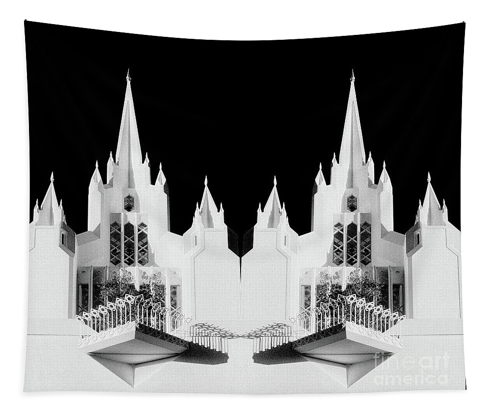 Lds Tapestry featuring the photograph Lds - Twin Towers 1 by Paul W Faust - Impressions of Light