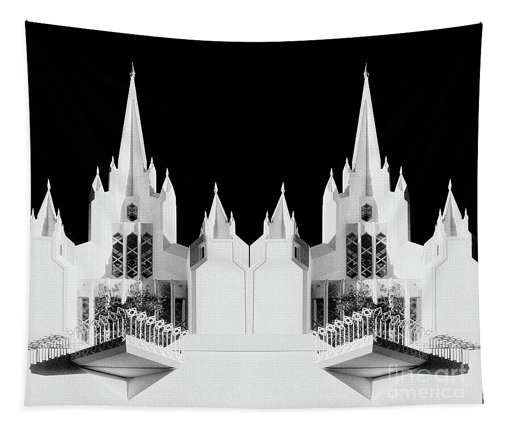 Lds Tapestry featuring the photograph Lds - Twin Towers 2 by Paul W Faust - Impressions of Light