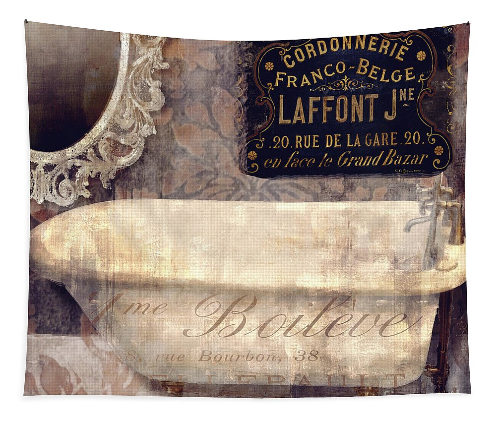 Bathtub Tapestry featuring the painting Le Bain Paris by Mindy Sommers